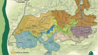 Plan du Parc Naturel Régional du Verdon
